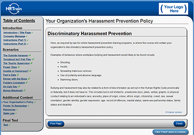 Sexual harassment online training programs