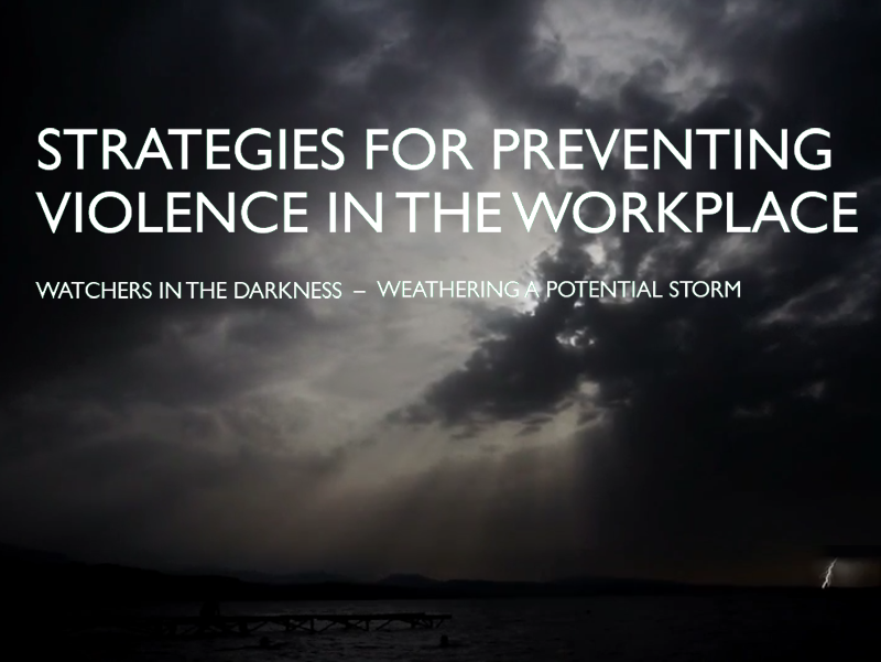 Strategies for Preventing Workplace Violence